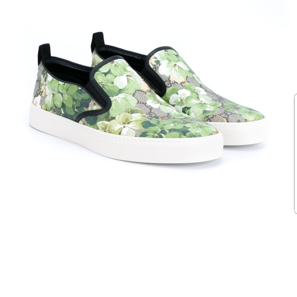 Gucci Floral Print Mens Slip Ons
